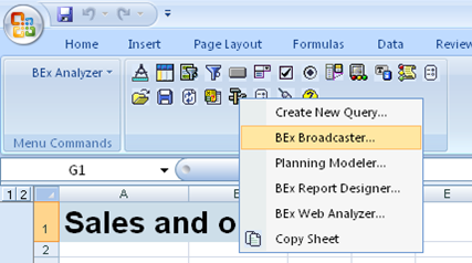 Bex Broadcaster option in Bex Analyzer