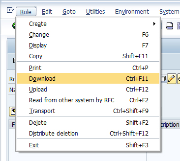 Download / upload roles from PFCG in SAP