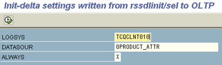 Fill in the source system and datasource